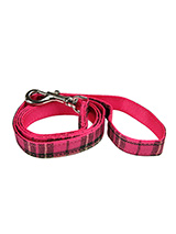 Fuschia Pink Tartan Fabric Lead - Here at Urban Pup our design team understands that everyone likes a coordinated look. So we added a Fuschia Pink Tartan Fabric Lead to match our Fuschia Pink Tartan Harness, Bandana and collar. This lead is lightweight and incredibly strong.
