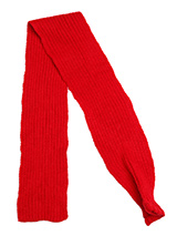 Red Knitted Scarf - Our knitted scarves can be worn in a number of ways. One end of the scarf has an opening so that it can be worn like a tie. Or it can be simply tied around the neck. But whatever way it is worn it is guaranteed to create that casual look while keeping the neck and chest warm.