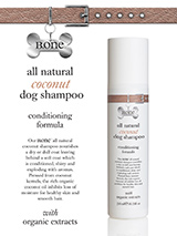 All Natural Coconut Dog Shampoo (200ml) - Our all natural coconut shampoo nourishes a dry or dull coat leaving behind a soft coat which is conditioned, shiny and exploding with aromas. Pressed from coconut kernels, the rich organic coconut oil inhibits loss of moisture for healthy skin and smooth hair. Contains wheat protein which has condi...