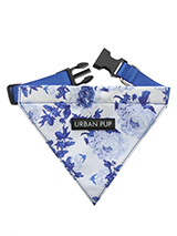 Blue Floral Bouquet Bandana - Our Floral Bouquet Bandana is a rich contemporary style and the floral pattern is right on trend. Just attach your lead to the D ring and this stylish Bandana can also be used as a collar. It is lightweight and incredibly strong. You can be sure that this stylish and practical Bandana will be admire...
