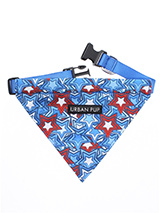 Hero Star Bandana - Our Hero Star Bandana is a tribute to all the Superhero's rolled into one not to mention your own little Superhero! It is a contemporary style and the floral pattern is right on trend. Just attach your lead to the D ring and this stylish Bandana can also be used as a collar. It is lightweight and in...