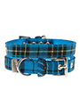 Blue Tartan Fabric Collar