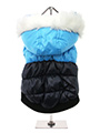Thermo Blue / Black Quilted Parka
